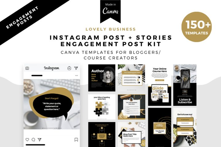 Lovely Business, Instagram Post and Story Engagement Post