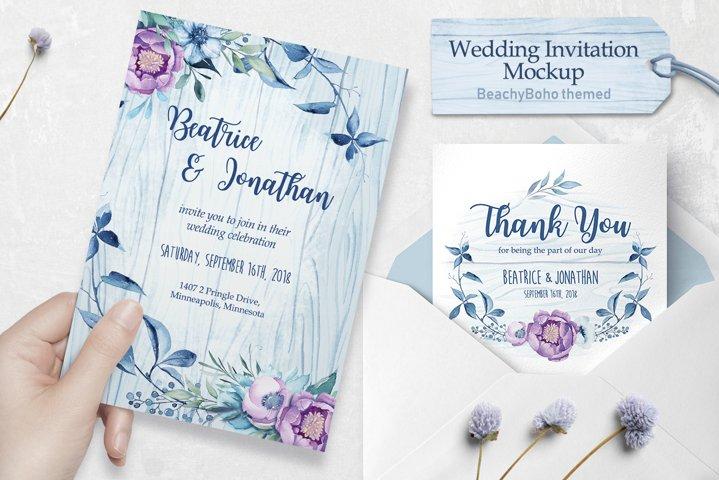Wedding invitation - BeachyBoho