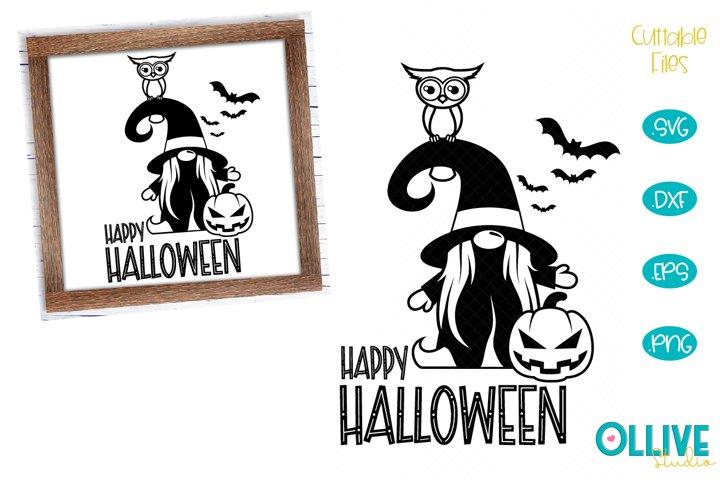 Gnome Happy Halloween SVG