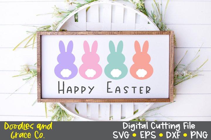 Happy Easter SVG - Spring SVG - EPS - DXF - PNG