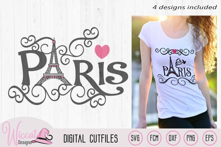 Paris Eiffel Tower word art, Valentine, City of love svg,