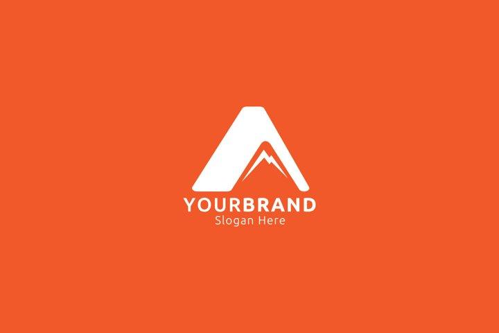 mountain logo design concept for apparel brand