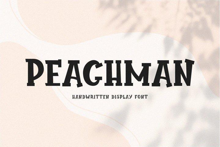 Peachman // Handwritten Font