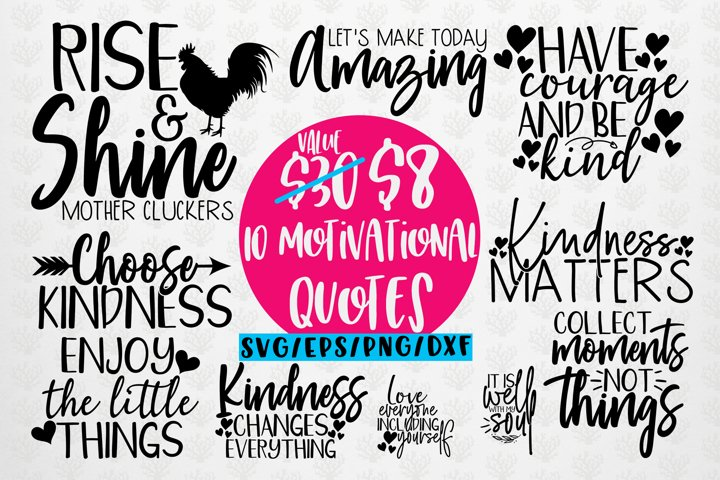 Motivational Quote Bundle - SVG EPS DXF PNG