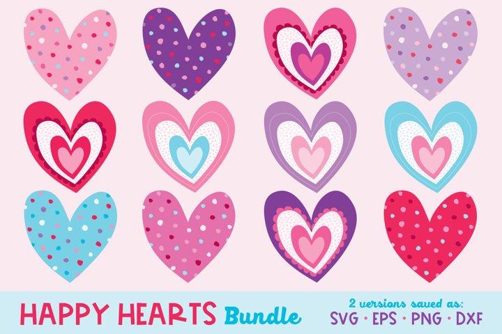 Heart Bundle, Heart SVG, Valentines Day SVG, Valentine Heart