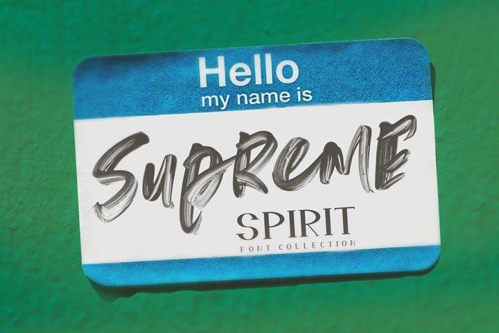 Supreme Spirit Fonts and SVG
