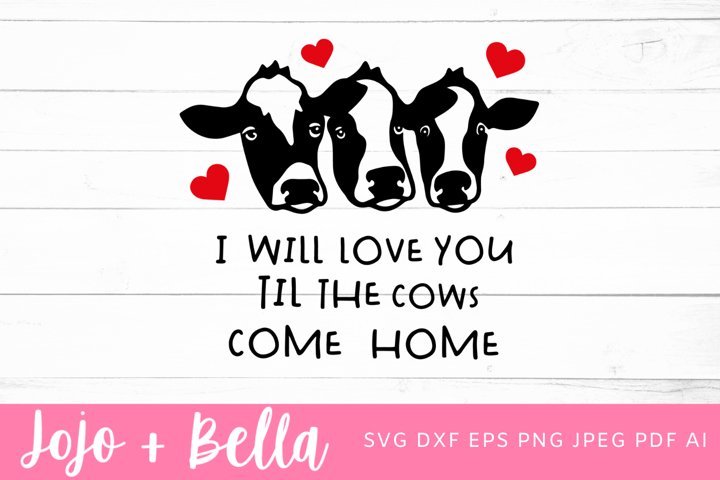 Cow Svg | Love Svg | Valentines Svg