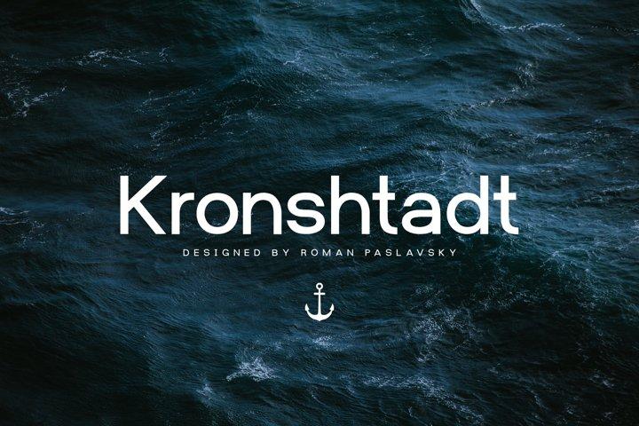 Kronshtadt - Sans Serif Typeface