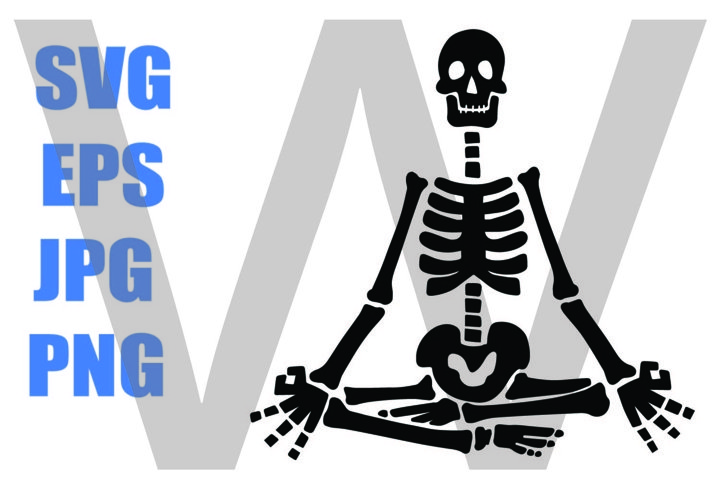 Skeleton Hand Yoga Meditation- SVG-EPS-JPG-PNG