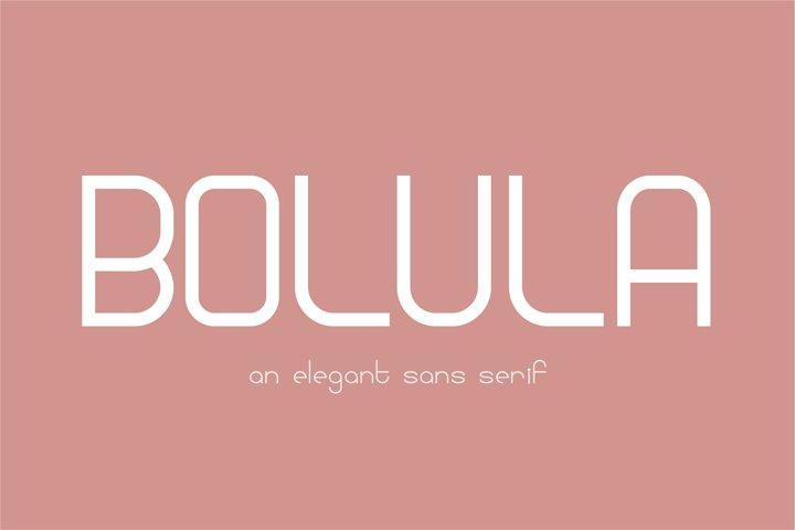 Bolula | An elegant sans serif