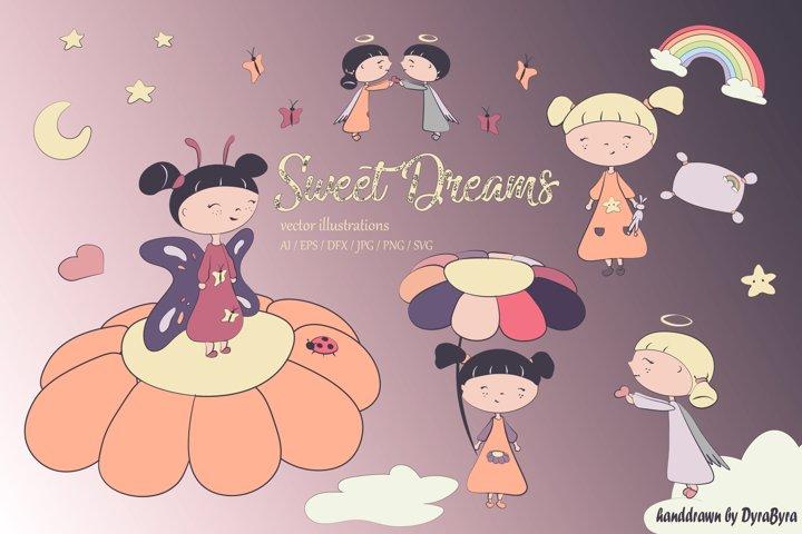 Sweet Dreams - Cute Spring / Easter illustrations