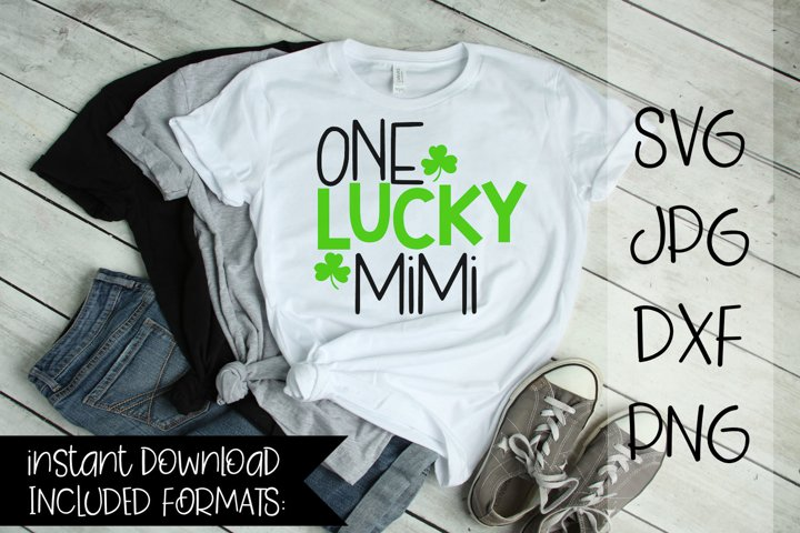 One Lucky Mimi, St Patricks day, SVG