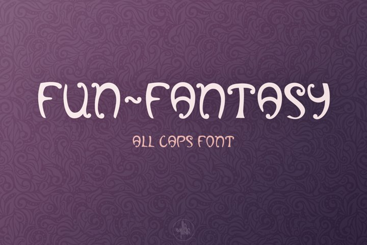Fun-Fantasy - all caps display font, OTF, TTF