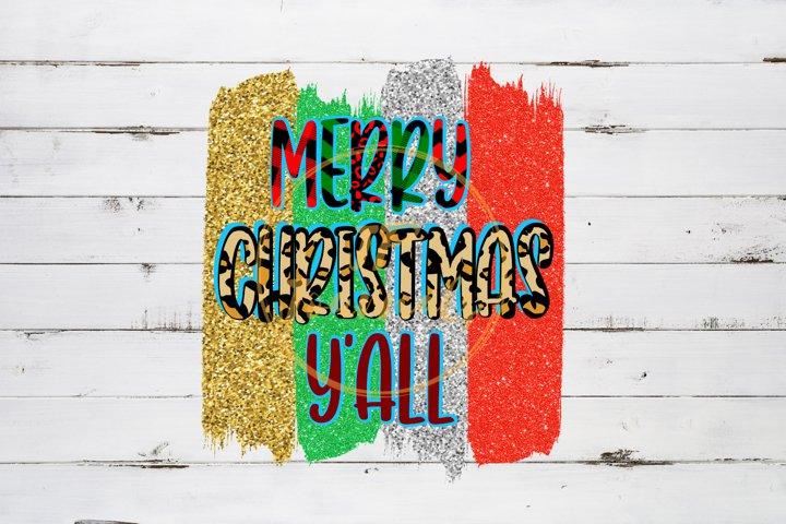 Merry Christmas YAll Christmas Sublimation Design PNG