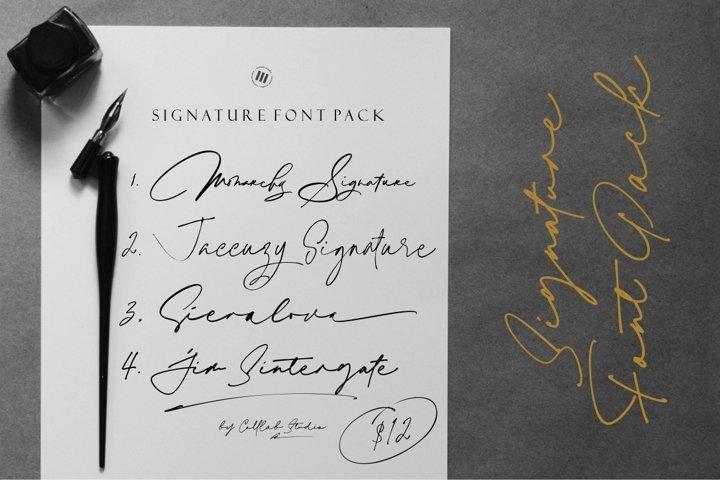 Bundle - Signature Font Pack