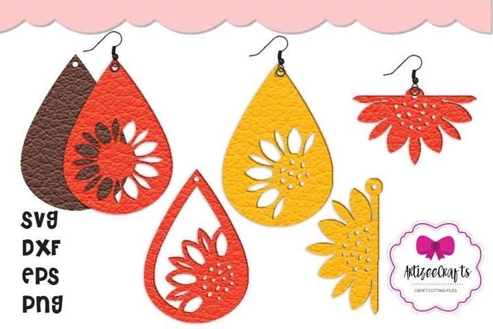 Sunflower Earring Jewelry Earring Cricut Silhouette Earring