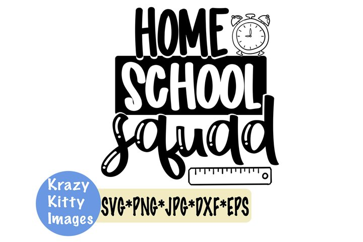homeschool squad svg, home school svg, e-learning svg, alarm