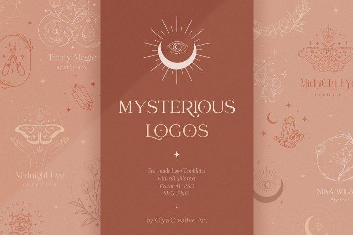 Mysterious Logos Collection. Fully editable Pre-made Logos.