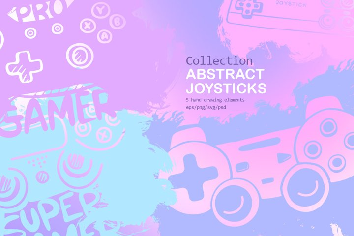 Collection Abstract joysticks