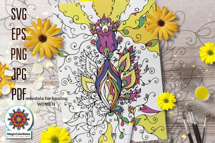 Mandala for Healing Women pdf files for coloring