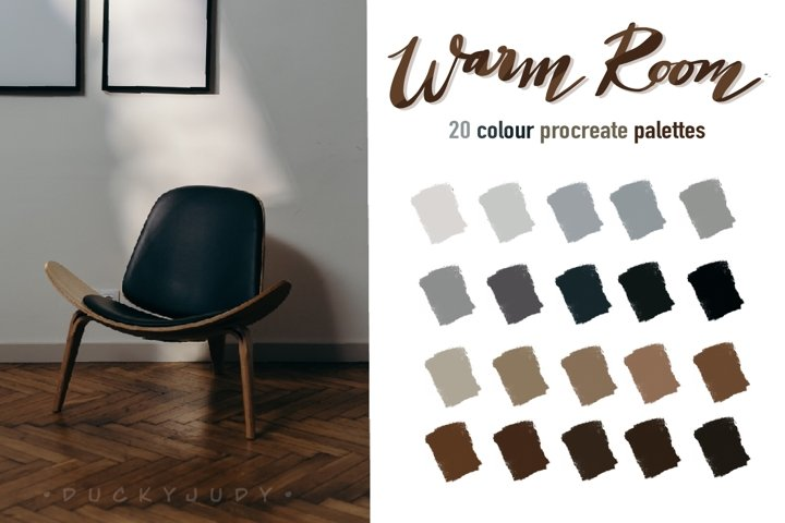 Warm Room Procreate Color Palettes
