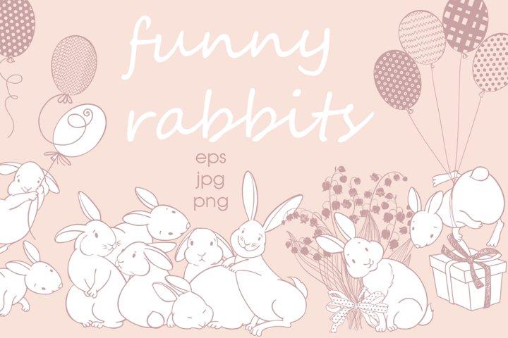 Funny rabbits.