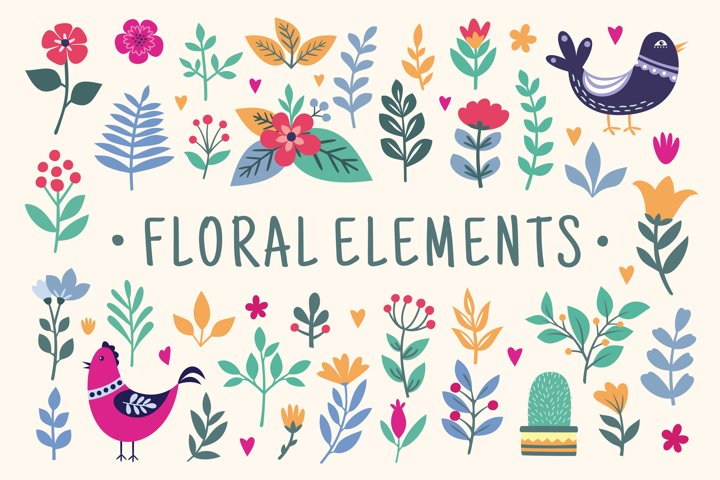Beautiful Floral graphics and illustrations