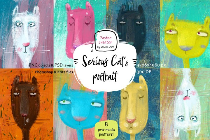 Serious Cats portrait - poster constructor