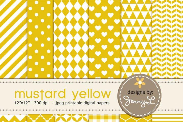 Mustard Yellow Digital Papers