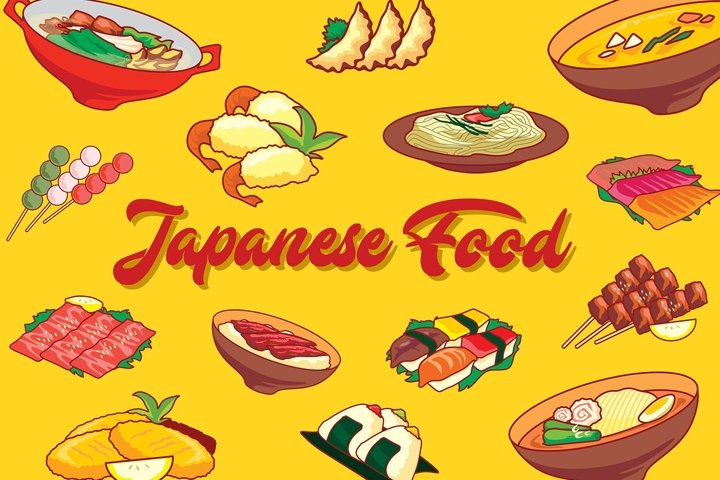 Japanese Food Vector set