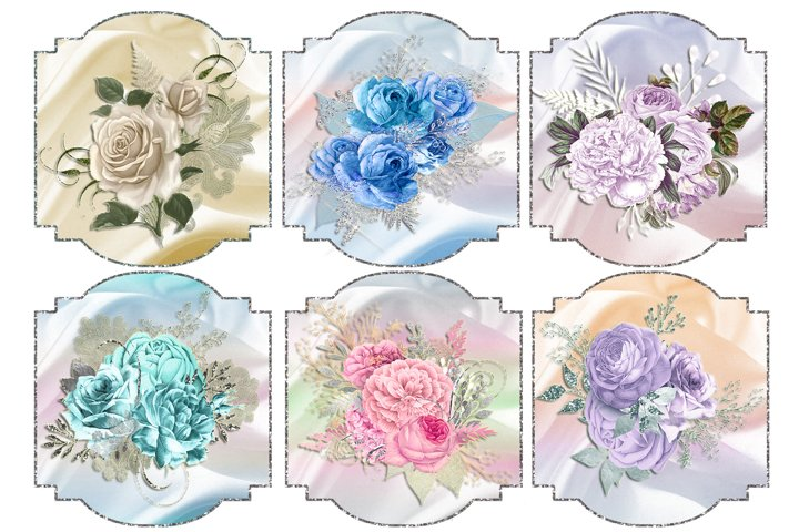 Silver Framed Floral Toppers 3