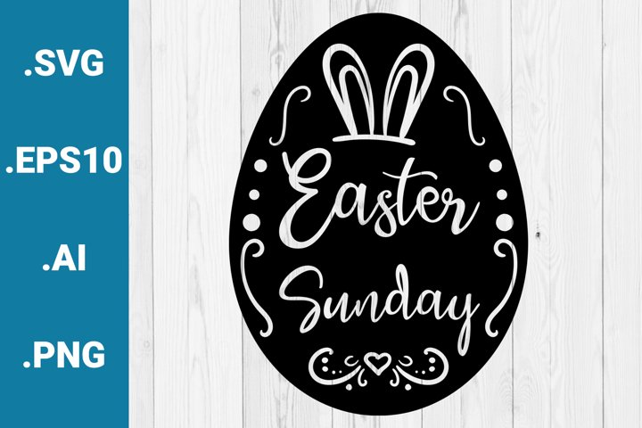 Easter Sunday Greetings SVG quote