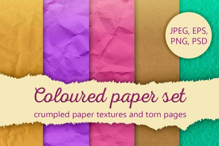 Coloured paper set