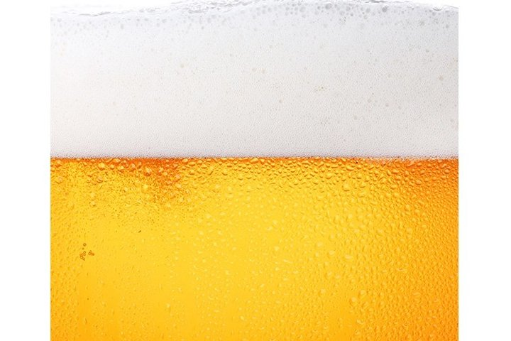 Beer In Wet Frosted Glass