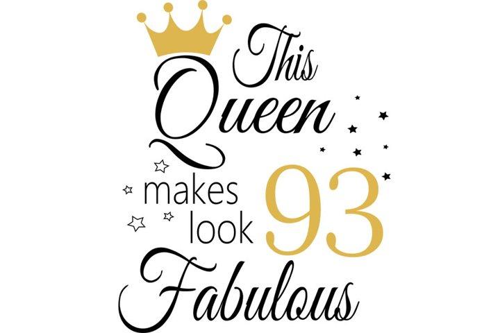 Birthday Svg, 93 Birthday svg, 93 Birthday clipart, happy bi