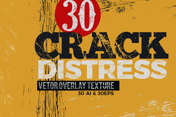 Crack and Distress Vector Overlay Texture