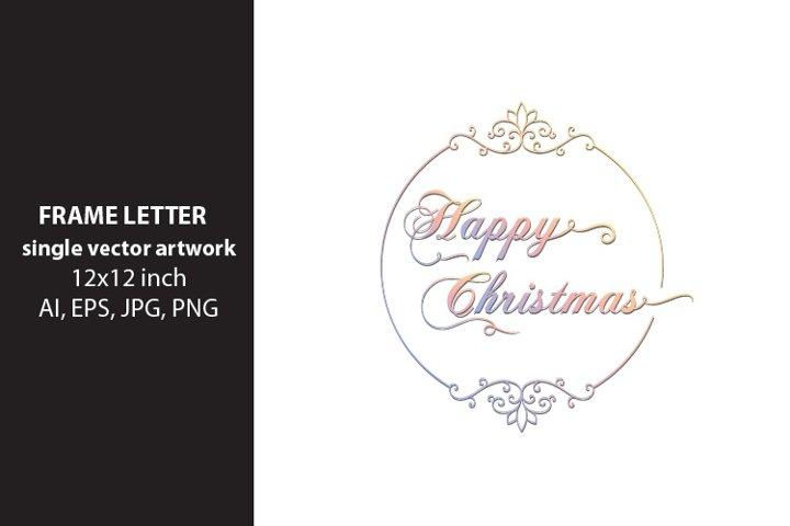 Happy Christmas - single vector artwork