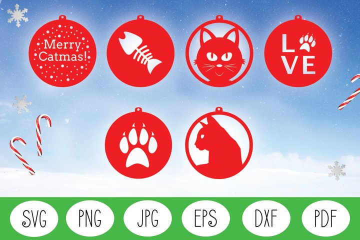 Christmas Ornament SVG | Christmas SVG | Cat Christmas SVG
