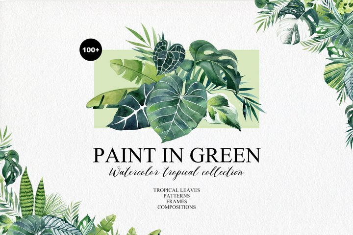 Paint In Green Watercolor Collection