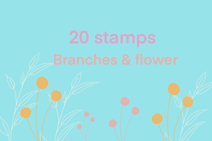 Flower brush stamp