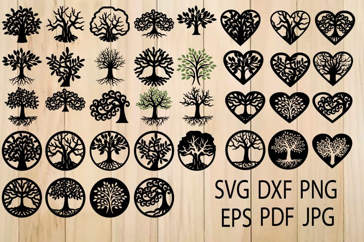 Tree of Life SVG, Trees, Tree Cut File, Tree SVG For Cutting - Free Design of The Week