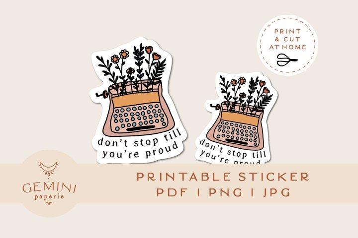 Print and Cut Sticker   Printable Laptop Sticker for Cricut