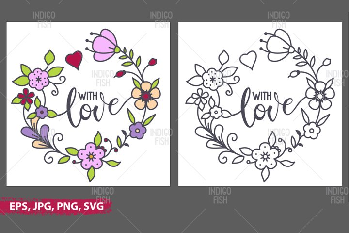 With Love SVG Cutting Files
