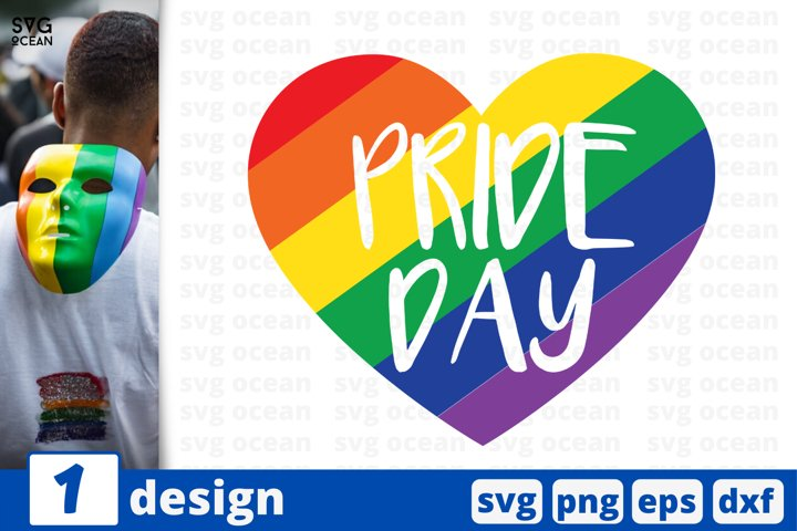 Pride day SVG cut file | Rainbow heart cricut | Lesbian love