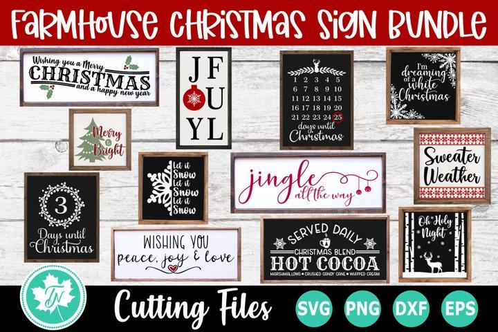 Christmas SVG Bundle| Farmhouse Christmas SVG | Christmas Si