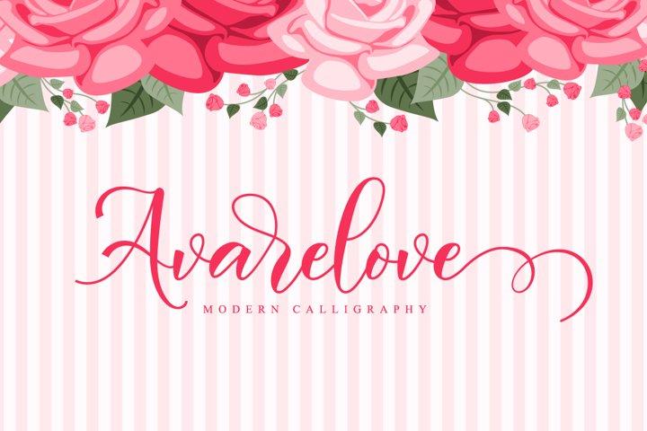 Avarelove // Lovely Script Font