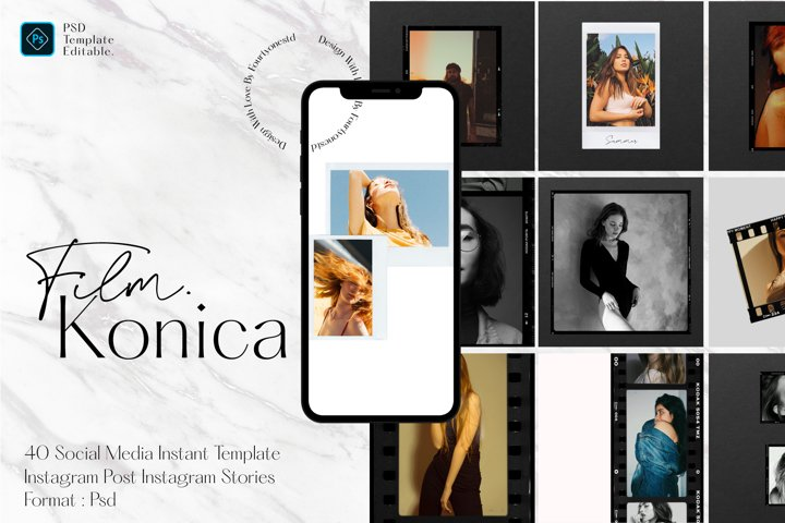 Konica Film Frame - Instagram Template