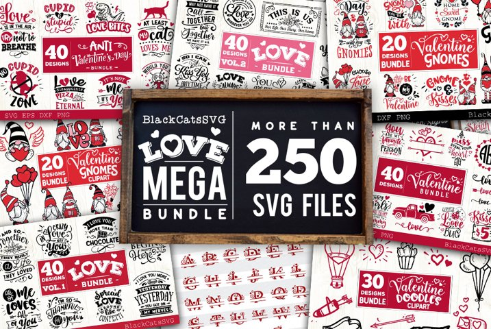 Valentine Mega Bundle SVG bundle 256 designs