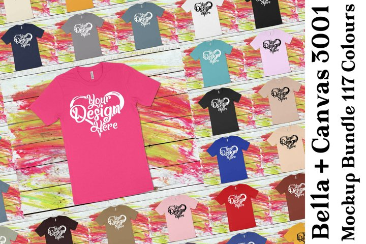 Bella Canvas 3001 T-Shirt Mockup Bundle 437