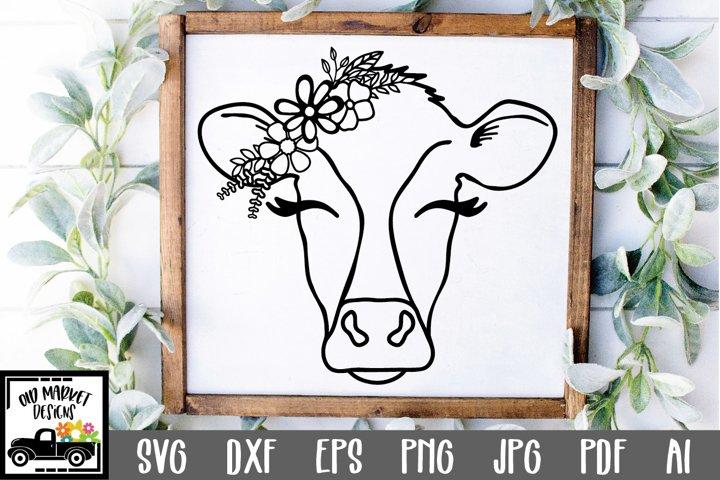 Cow SVG File - Cow Face SVG Cut File